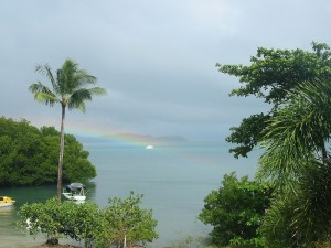 Rainbow at Portland Roads
