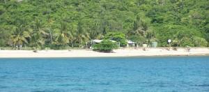 Restoration Island view from Chili Beach